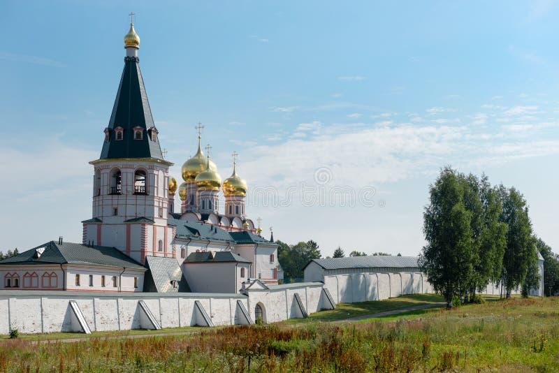 Valdai Iver Svyatoozersky dziewicy monaster zdjęcia royalty free