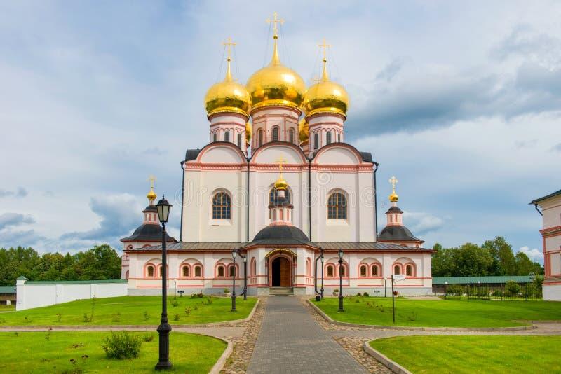 Valdai Iver Svyatoozersky dziewicy monaster Iversky Cathedra fotografia royalty free