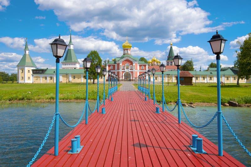 Valdaisky Iversky Svyatoozersky Bogoroditsky monaster Novgorod region, Rosja zdjęcia stock