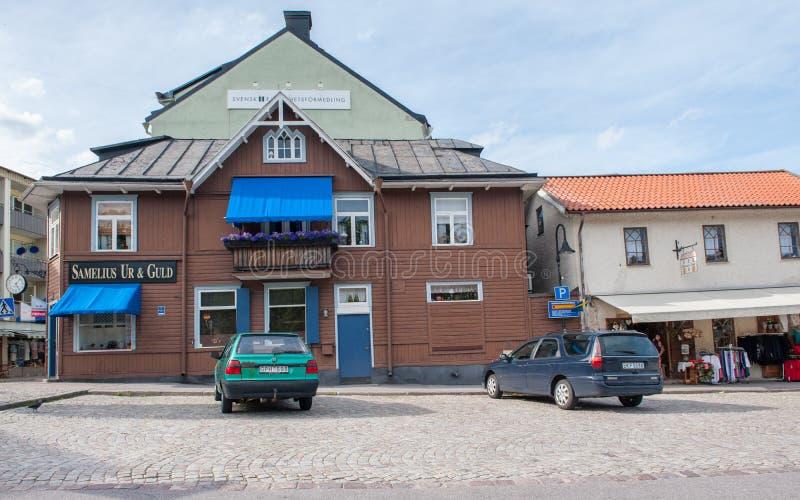 Valdemarsvik,瑞典 免版税库存照片