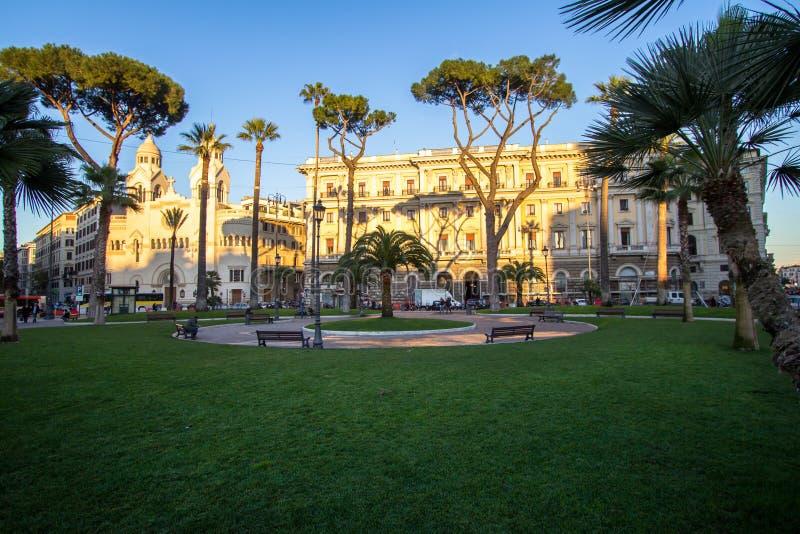 Valdese Ewangelicki kościół przy piazza Cavour w Rzym zdjęcia royalty free