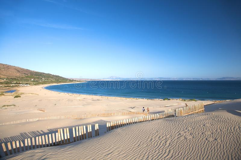 Valdevaqueros海滩 免版税库存图片
