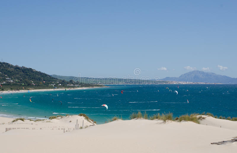 Valdevaqueros海滩 免版税库存照片