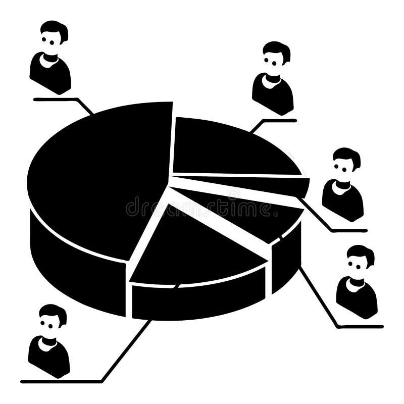 Valdiagramsymbol, enkel stil vektor illustrationer