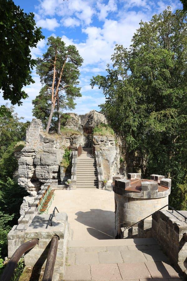 Valdstejn, gothic castle from 14th Cent., Bohemian Paradise region, Czech republic / hrad Valdštejn, Český ráj, Česká. Valdstejn, gothic castle from 14th royalty free stock images