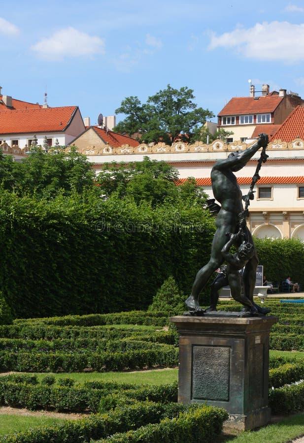 Valdstejnska Zahrada - senado de la República Checa imagenes de archivo