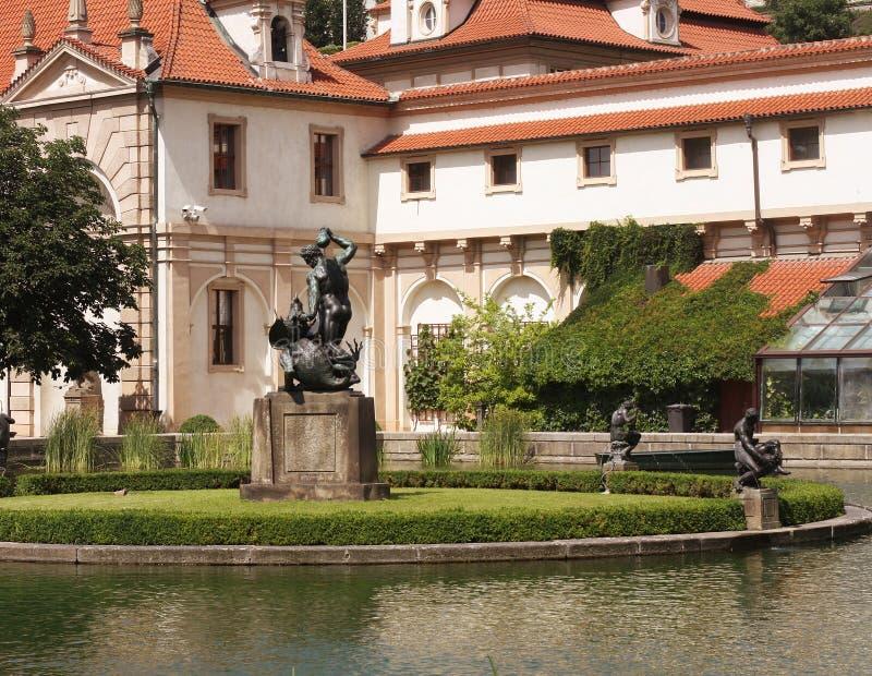 Valdstejnska Zahrada - senado de la República Checa fotos de archivo libres de regalías