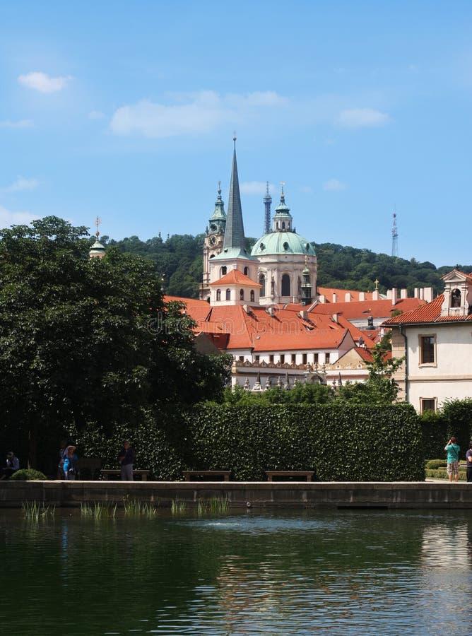 Valdstejnska Zahrada - senado de la República Checa foto de archivo libre de regalías