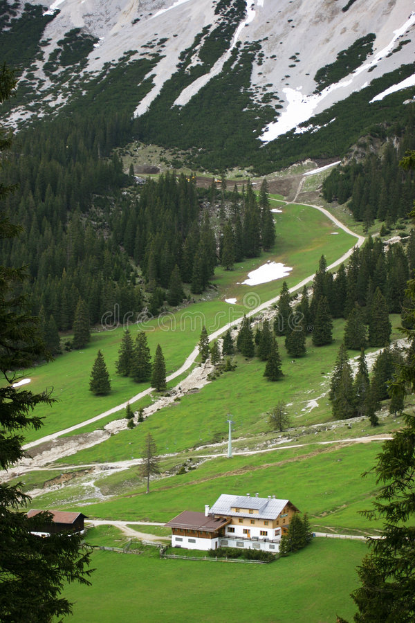 Vale Alpino Fotos de Stock