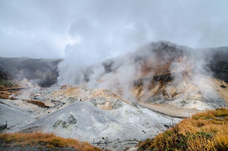 Vale bonito de Jigokudani ou de ` do vale do inferno do ` imagens de stock