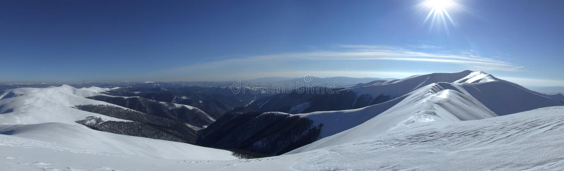 Vale Carpathian fotografia de stock royalty free