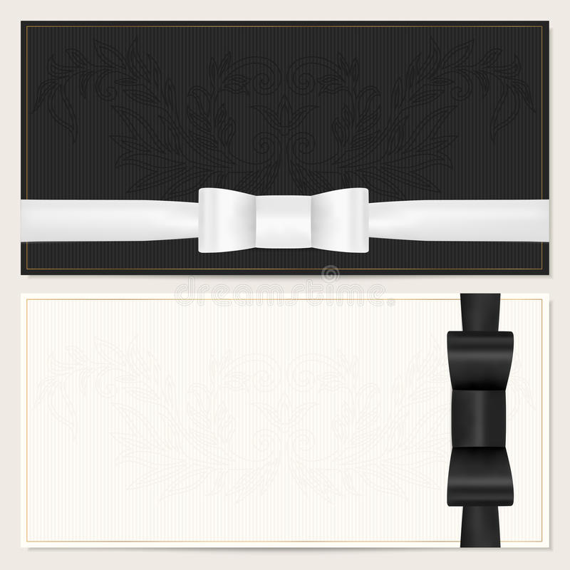 Vale, chèque-cadeaux, cupón. Arco negro  libre illustration