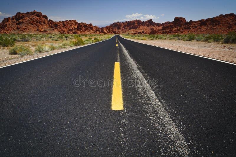 Vale da estrada do incêndio imagens de stock