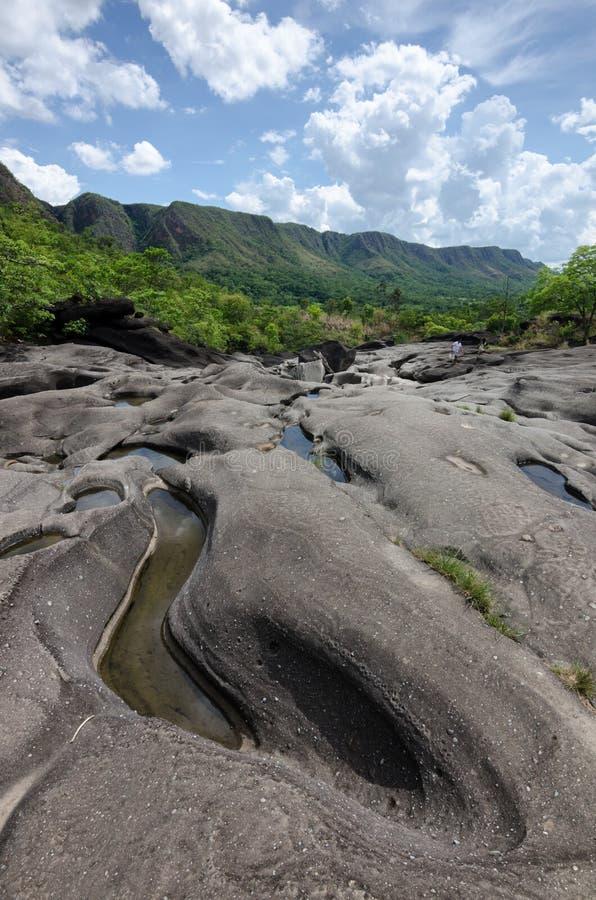 Vale da Lua nel parco nazionale del DOS Veadeiros di Chapada fotografie stock