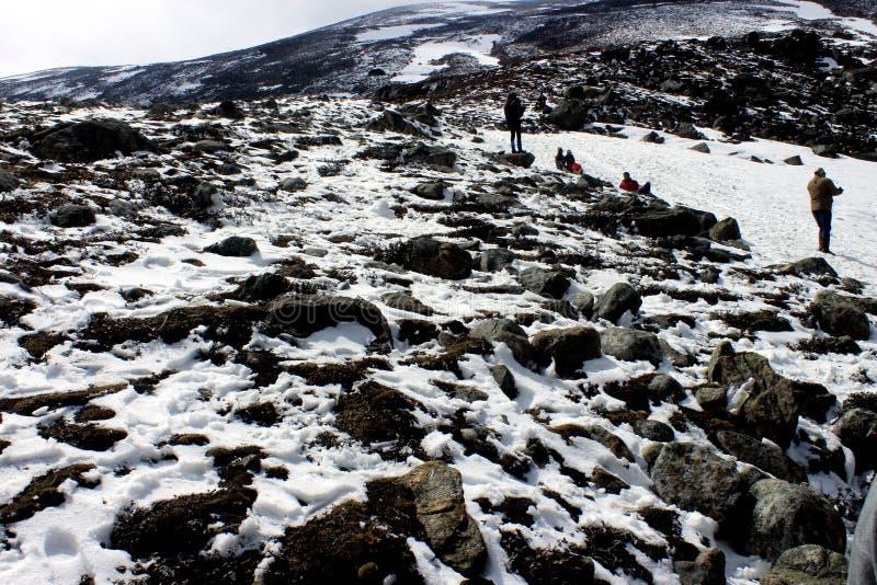 Vale da neve no ponto zero Sikkim norte na ?ndia imagens de stock