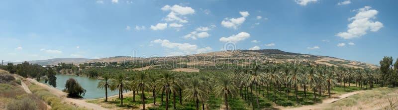 Vale de Holyland série-Jordão foto de stock