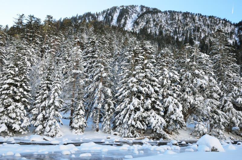 Vale de Marcadau no inverno foto de stock royalty free