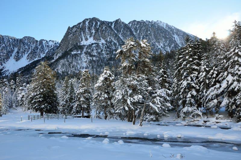 Vale de Marcadau no inverno imagem de stock royalty free
