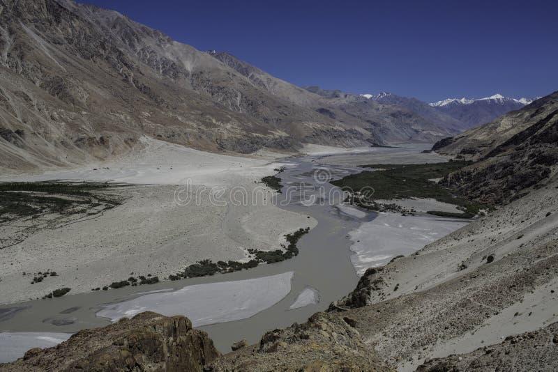 Download Vale de Nubra em Ladakh foto de stock. Imagem de serpentear - 26514456