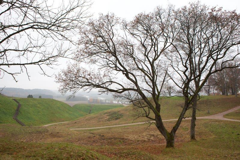 Vale de Pajauta em Kernave imagens de stock