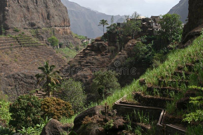 Vale de Xoxo, ilha de Santa Antao, Cabo Verde fotografia de stock