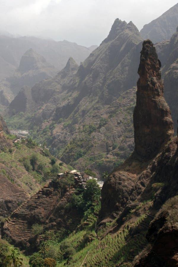 Vale de Xoxo, ilha de Santa Antao, Cabo Verde imagens de stock royalty free