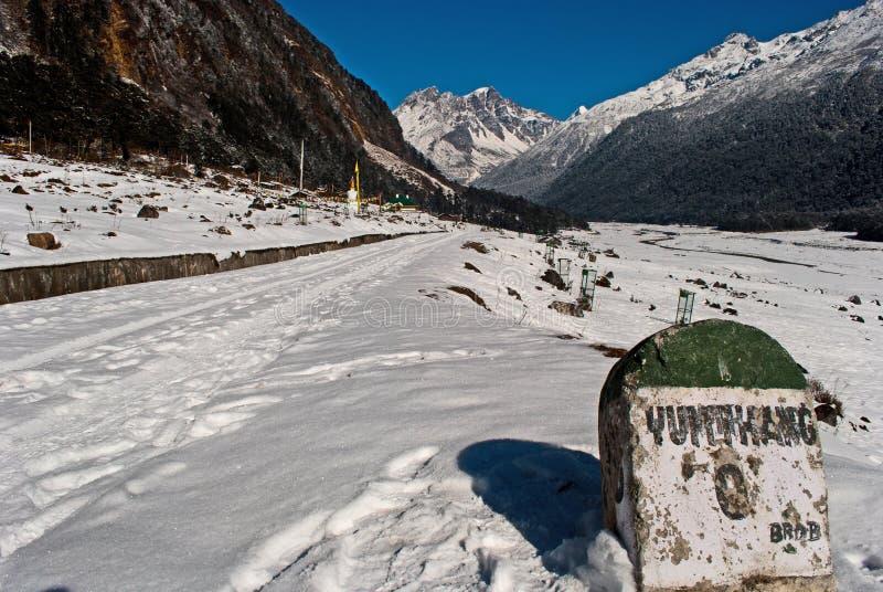 Vale de Yumthang fotos de stock