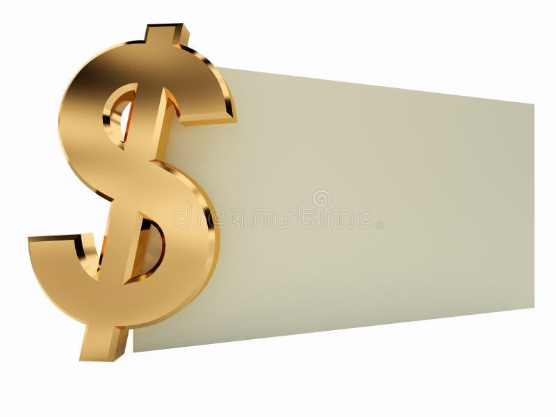 Vale del dólar ilustración del vector