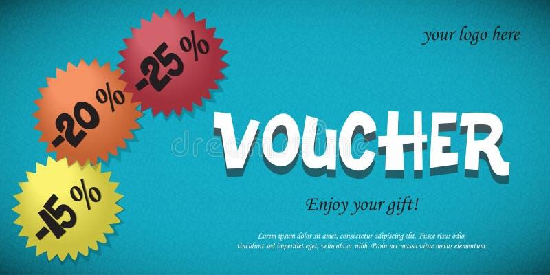 Vale del regalo para los descuentos ilustración del vector