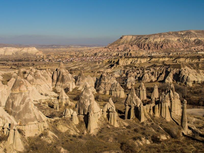 Vale do amor em Cappadocia, Turquia imagem de stock royalty free
