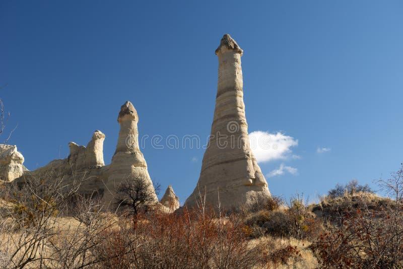 Vale do amor, região de Goreme, Turquia fotografia de stock