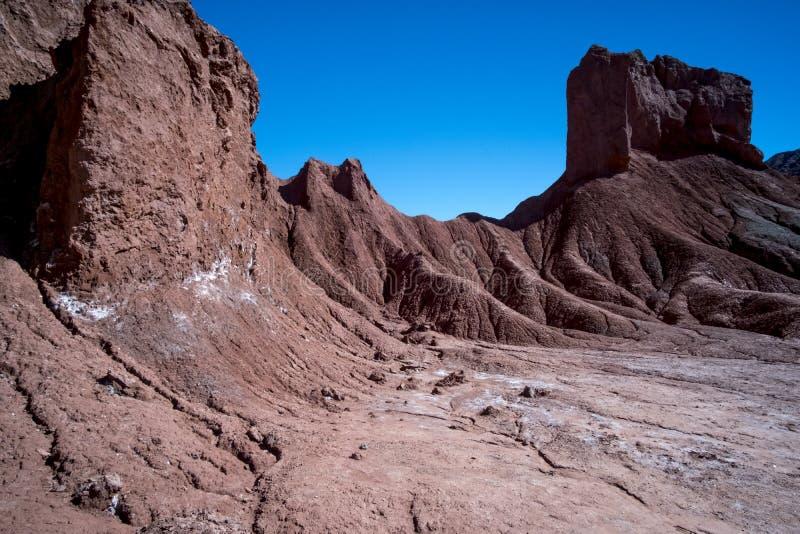 Vale do arco-íris no deserto de Atacama no Chile fotografia de stock