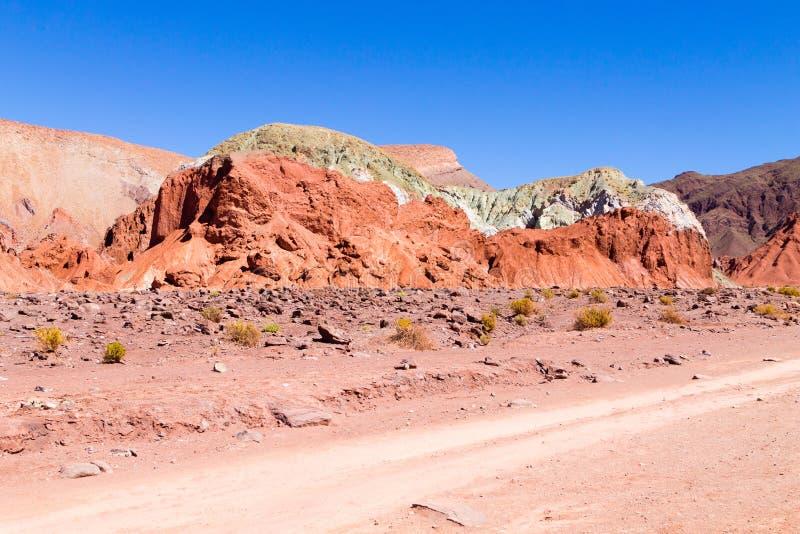 Vale do arco-íris, o Chile imagem de stock