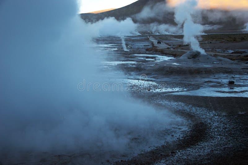 Vale do geyser do EL Tatio, o Chile foto de stock royalty free