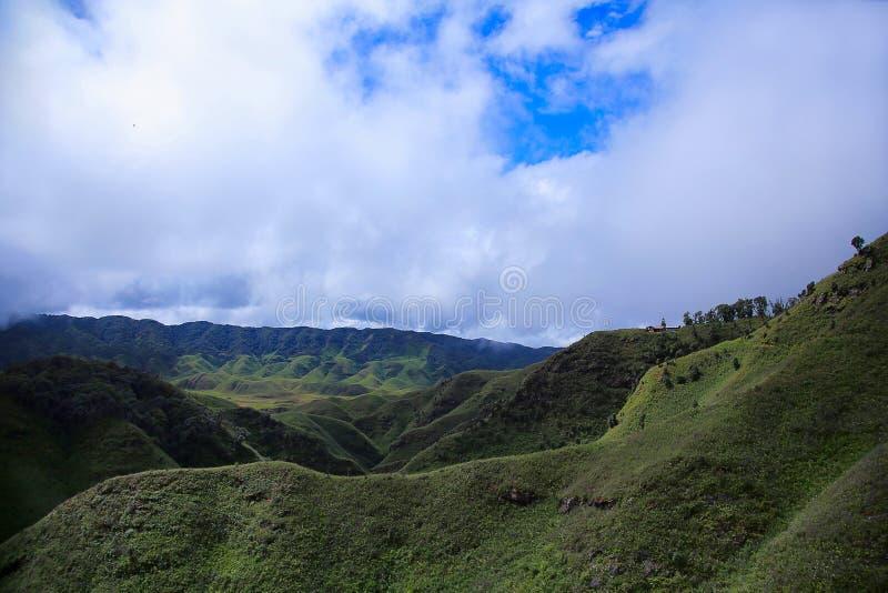 Vale do kou do ½ do ¿ de Dzï Beira dos estados de Nagaland e de Manipur, Índia imagem de stock