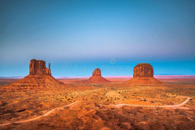 Vale do monumento, o Arizona, EUA fotografia de stock