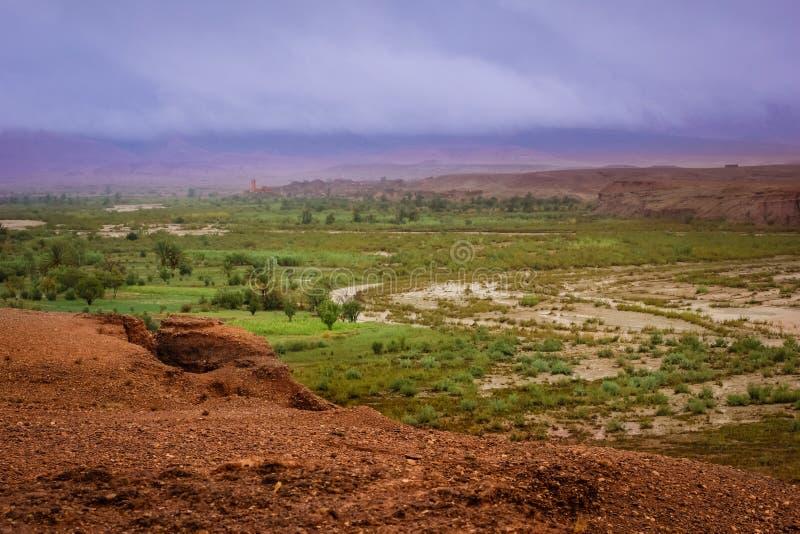 Vale do ounila de Assfalou e de Asif marrocos imagens de stock royalty free