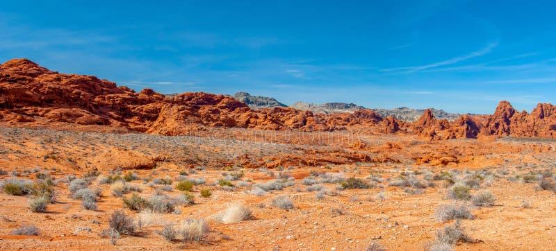 Vale do panorama do fogo fotografia de stock royalty free