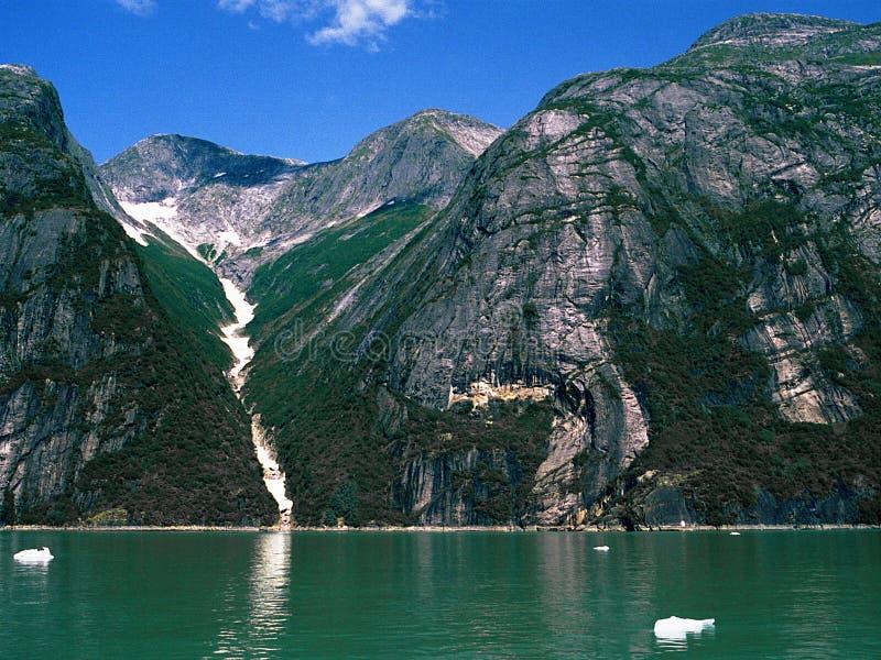 Vale e Fjord da montanha imagens de stock