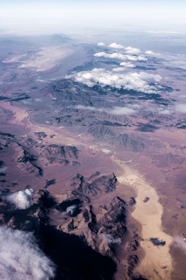 Vale e montanhas de Colorado imagens de stock