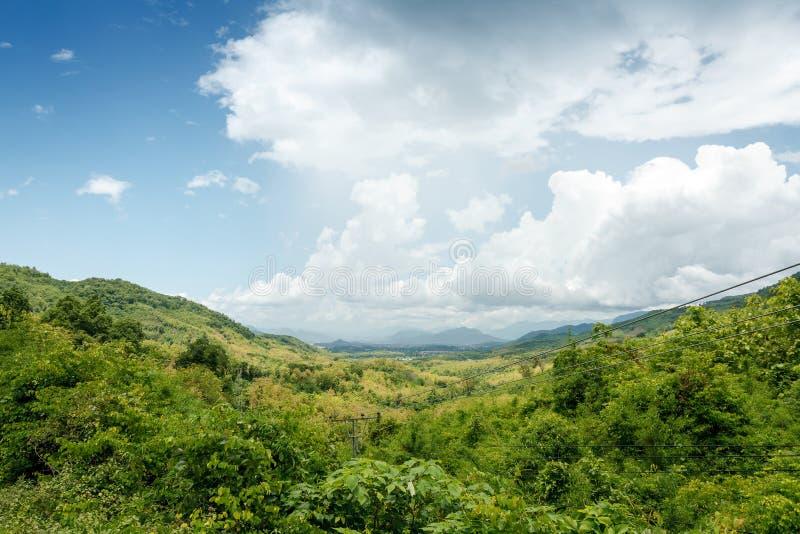 Vale norte de Laos imagens de stock