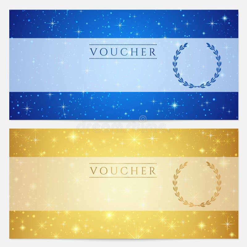 Vale-oferta, comprovante, molde do vale. Estrelas ilustração royalty free