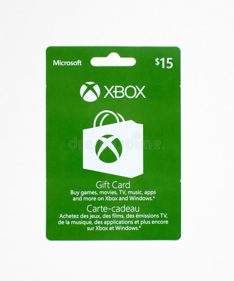 Vale-oferta de Microsoft Xbox em um fundo branco imagens de stock