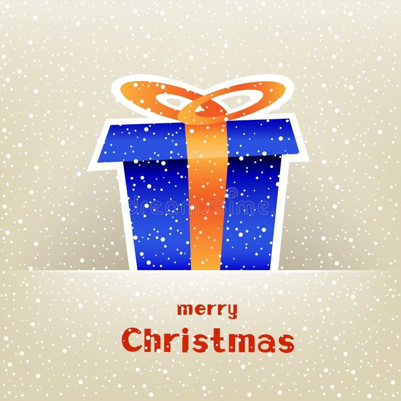 Vale-oferta do Natal com neve ao redor ilustração stock
