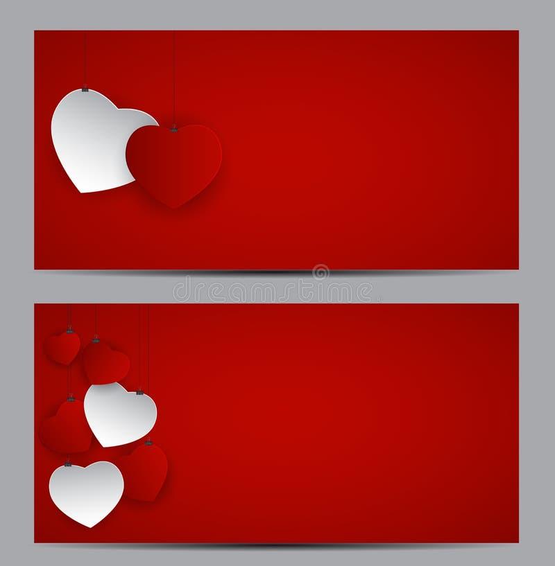 Vale-oferta do símbolo do coração do dia do Valentim s Amor e sentimentos Backgr ilustração stock