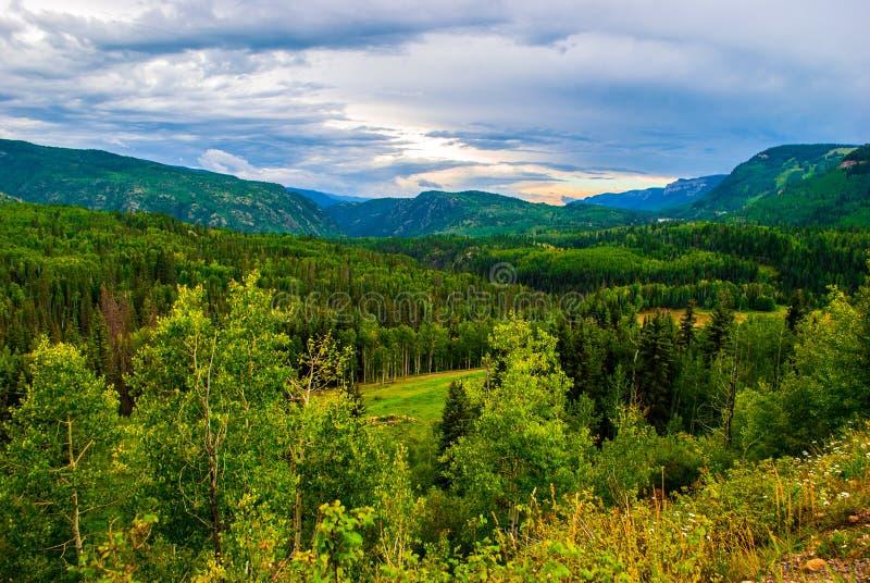 Vale Rocky Mountains Colorado de San Juan Mountains 550 foto de stock royalty free