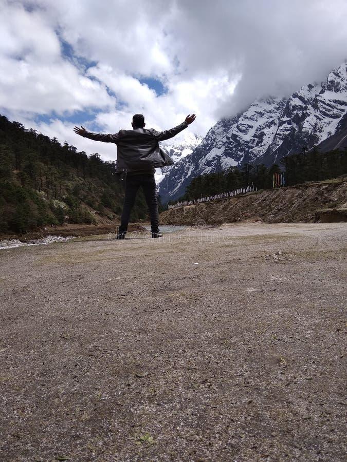 Vale sikkim india de Yumthang tão frio imagem de stock