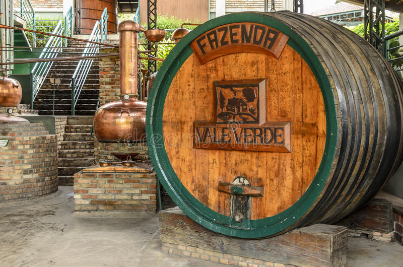 VALE VERDE , BETIM ,BRAZIL-Museum of cachaca. VALE VERDE , BETIM ,BRAZIL- MARCH 14 , 2015 ;Museum of cachaca, the most popular alcohol in Brazil, in ecological royalty free stock images