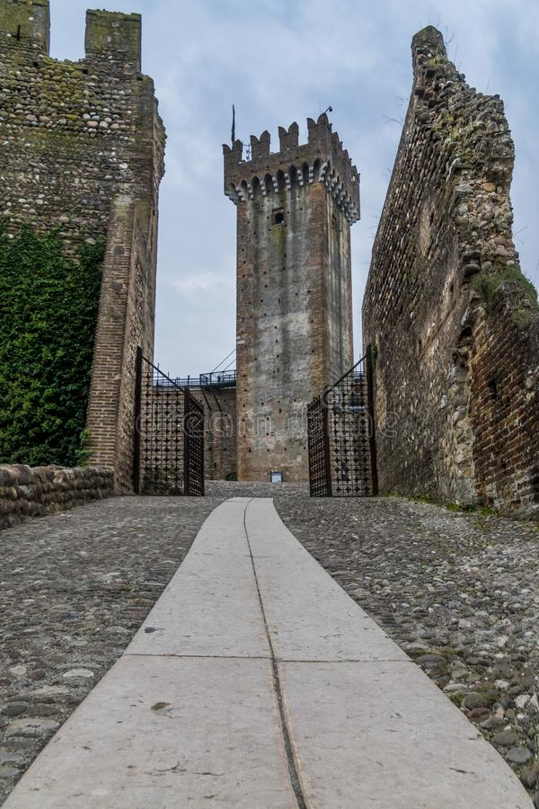 Valeggio老城堡  图库摄影