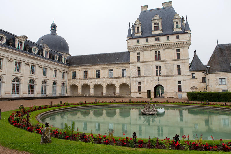 Valencaykasteel in de vallei van de Loire royalty-vrije stock fotografie